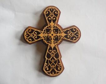 Hart wall cross,wooden wall crosses,