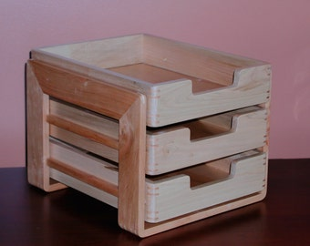 Desktop Organizer/ In-Box with Three Trays