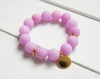 Natural Stone Bracelet Gem Stone Bracelet Semi Precious Stones Bracelet Raspberry Sherbet