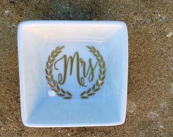 Mrs Ring Dish Bridal Shower Gift Ring Holder