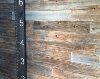 """Home Decor 6' Ruler, (72"""" x 7"""" x 3/4""""), Growth Chart, Nursery, Rustic, Southern, Home Decor, Solid Wood, Mother's Day"""
