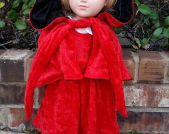 18 Inch Doll Little Red Riding Hood Costume