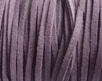 90 m roll suedine cord 3mm color: purple P0400