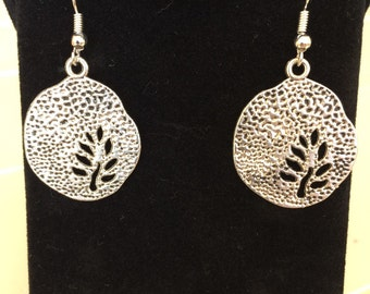 Hammered Stamped Branch Earrings