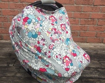 Car Seat Cover. Nursing Cover. Highchair Cover. Shopping Cart Cover. Baby Shower Gift. Pop Art