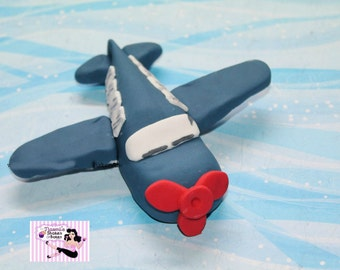 1x 3D Air o Plane Boys Edible Fondant Cake Toppers