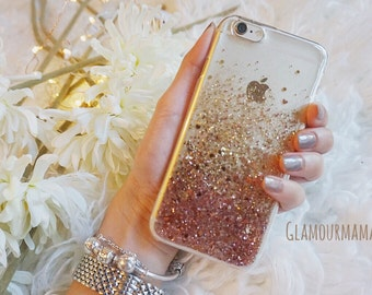 Rose Gold glitter phone case samsung galaxy s8 case samsung galaxy s8 plus case samsung galaxy s7 case samsung galaxy s7 edge case