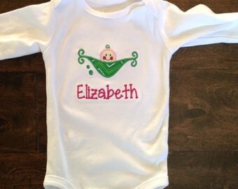 Sweet pea personalized bodysuit