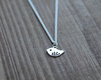 Small chickadee necklace