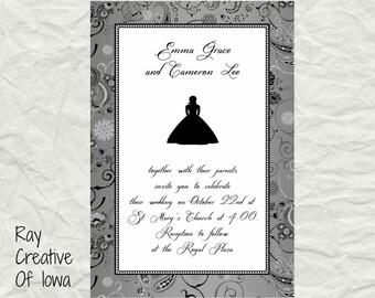 Bride Silhouette Wedding Invitation