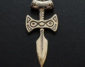 Amulet of Talos Handmade from bronze - Inspired by Elder Scrolls Skyrim - Jewelry Pendant Medallion
