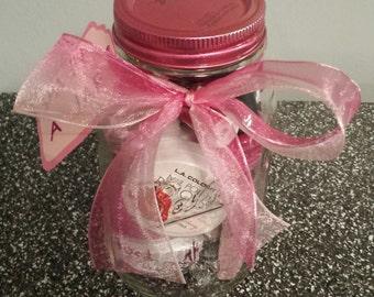 Mini Spa Set in a Mason Jar