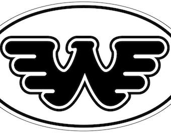 Waylon Jennings Black Oval Flying W Decal Vinyl Sticker 4 Pieces