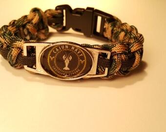 Cajun Navy camo paracord bracelet Louisinana Strong