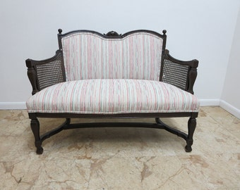 Ethan Allen Royal Charter Oak Jacobean Carved settee couch love seat bench