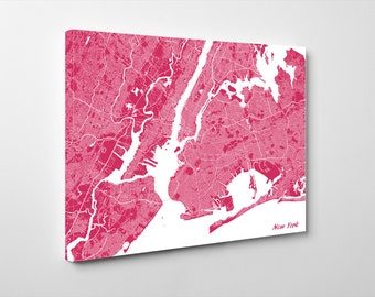 New York Street Map Print Map of New York City Street Map New York Poster Wall Art 7103L