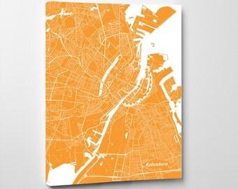 Copenhagen Street Map Print Map of Copenhagen City Street Map Denmark Poster Wall Art 7116P