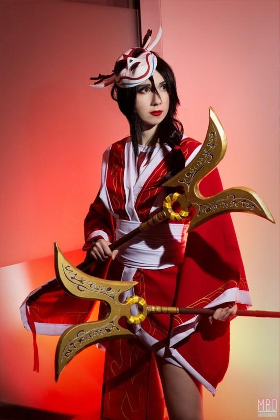 Blood Moon Akali kamas weapon cosplay Bloodmoon Akali Costume