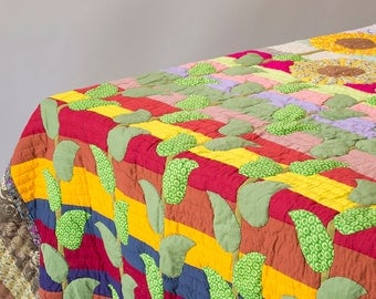 Patchwork Quilt // Kids quilt // Handmade // Reversible // bright quilt