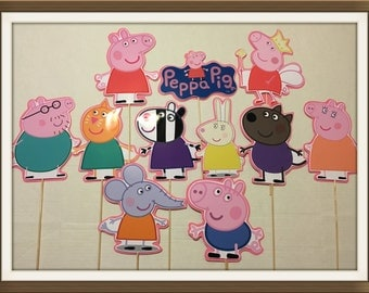 Peppa pig family and friends birthday centerpieces
