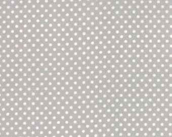Moda Fabrics Basic Dots Gray - Dottie Small Dots Grey Fabric 100% Cotton, 45009 64