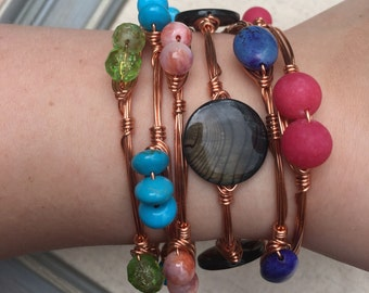 Rose Gold Tropical Bangles