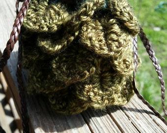 Mini Crocheted Dragon scale bag