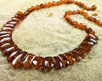 """Amber necklace, Adult Amber Necklace, Genuine Baltic Amber Adult Necklace 18""""  Jewelry for Women"""