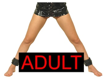 Extendable Leg Spreader Adjustable Fetish Bondage BDSM Leather Slave Mature