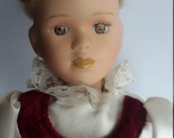 Vintage doll, Retro doll, Girl doll toy, Souvenir doll, Collectible doll