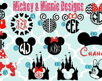 Mickey or Minnie kids monogrammed long sleeve shirt- monogrammed shirt - kid monogrammed shirt - minnie mouse - Disney - mickey mouse