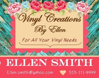 Shabby Chic Vintage Custom Business Card