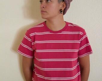 Vintage Pink Striped Tee