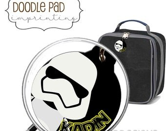Personalized StormTrouper Star Wars Lunch box ID Tag, Zipper Pull