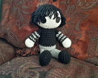 Adorable Gothic Male Amigurumi Doll