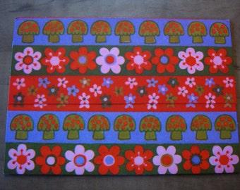Vintage Retro, Bohemina and Flower Power, 1960's Hippie Greeting Cards