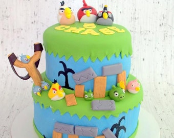 Angry Bird Cake Toppers and Decorating Kits (100% Edible)