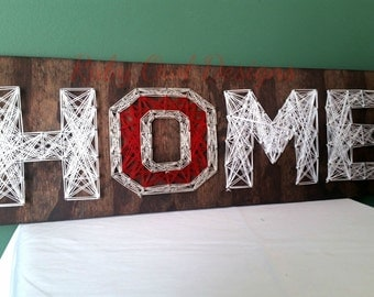 Home String Art Sign, Ohio State University, Block O, OSU, Made to Order
