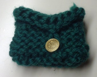 Green Knitted Pouch