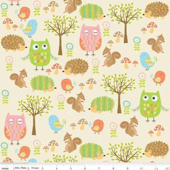 Sheet fitted woodland animal sheet toddler bed sheet baby bedding owl