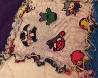 Baby Superheroes Flannel Rag Quilt