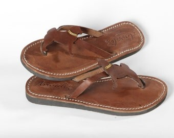 Akita Sandals Flip Flops handmade leather gift shoes