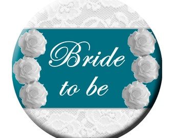 "Wedding Party Bride Buttons 3"" Pinback"