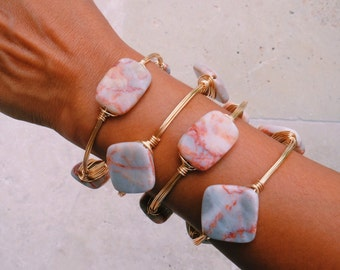 RedLine Marble Bangles