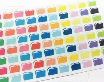 File Folder Work Stickers