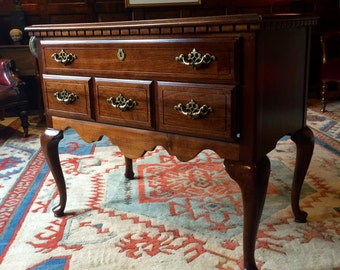 Gorgeous Antique Style Side Table Mahogany Low Boy Chest