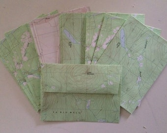 Map Envelopes - Set of 15 - Cartography 4.75in x 6.5in (mm: 120.65 x 165.1)