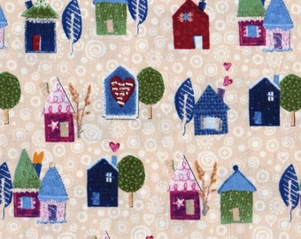 Our Town Houses   Cotton Quilt Fabric Windham Fabrics     By the  Yard