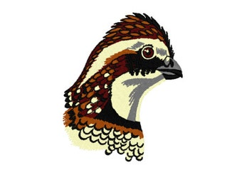 Bobwhite Quail Embroidery Designs