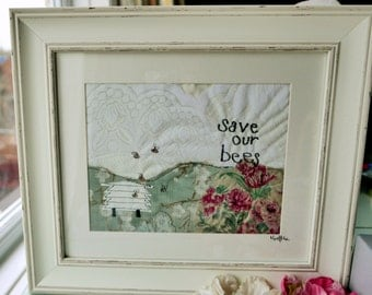 Applique Embroidery Framed